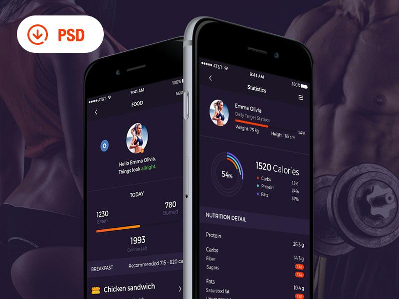 Fit Sport UI Kit PSD