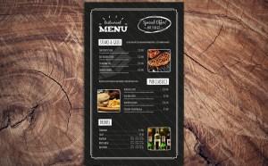 Free Chalkboard Restaurant Menu Template PSD