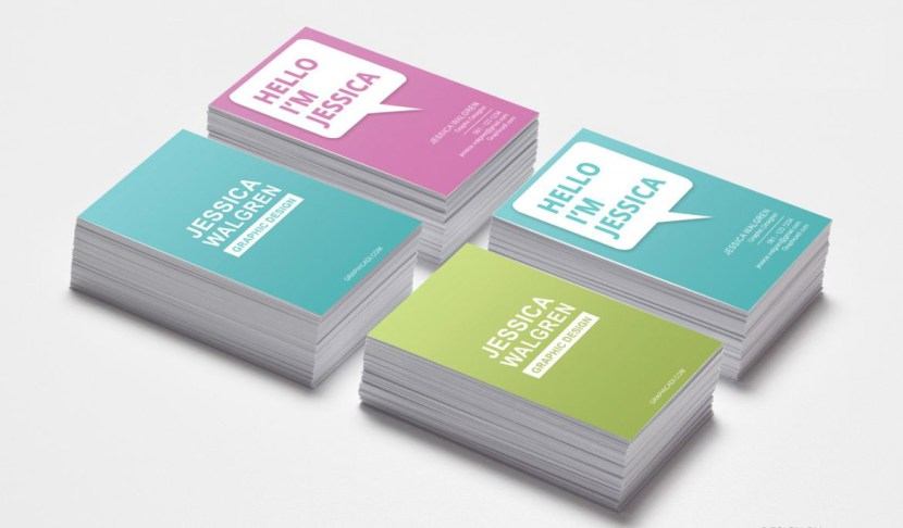 Colorful Fashion Business Card Template