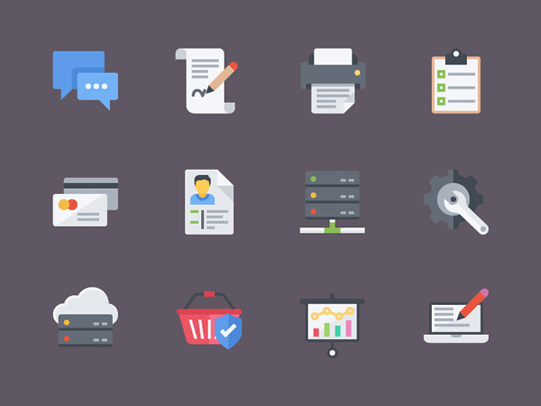 12 Free Flat Icons