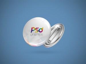 Free Pin Button Mockup PSD