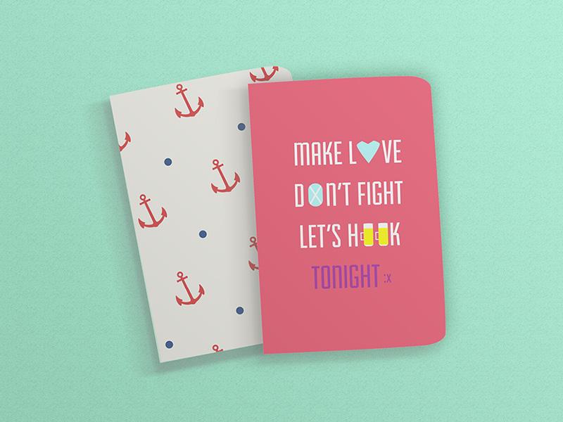 Free Rounded Corner Notebook Mockup