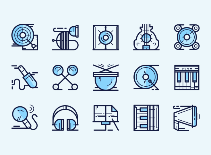 Free Vector Music Icon Set