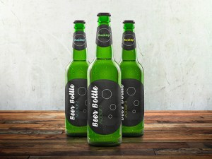 Free Glass Beer Bottle Mockup