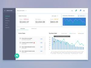 Free Material Dashboard Template Sketch