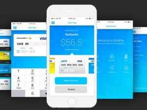 Free Mobile Payment UI Kit PSD