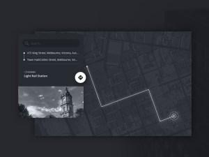 Free Monochromatic Map Widget UI