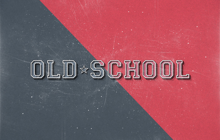 Old School Text Effect PSD