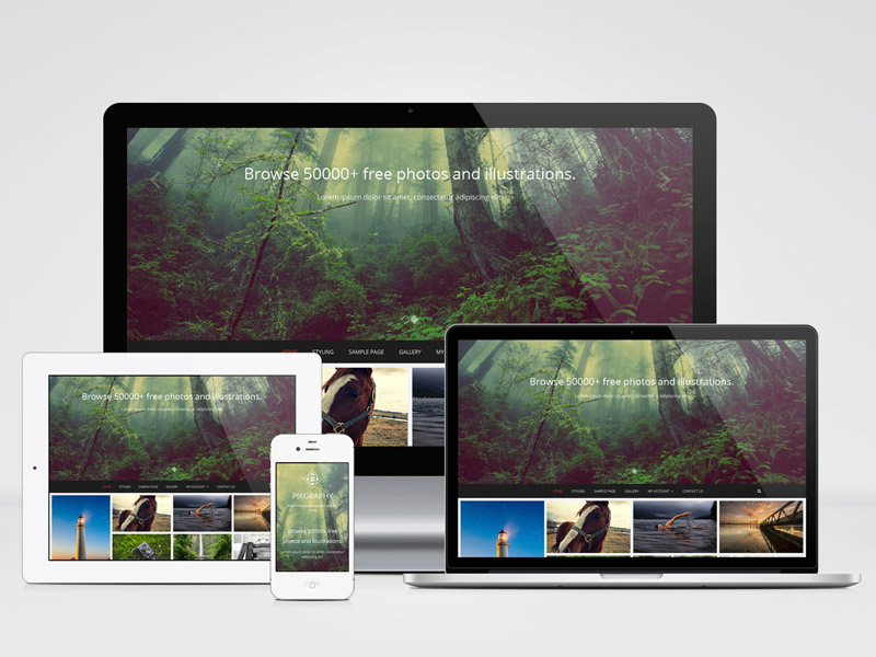 Pixgraphy : Free Responsive Photography WordPress Theme