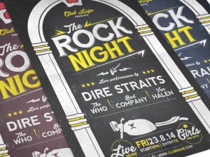 Free Rock Night Concert Flyer Template