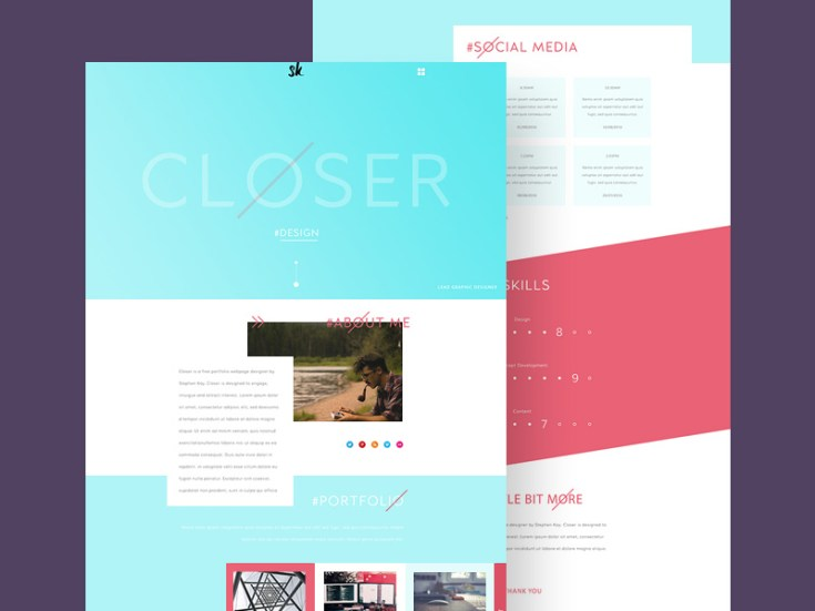 Simple Flat Portfolio PSD Template