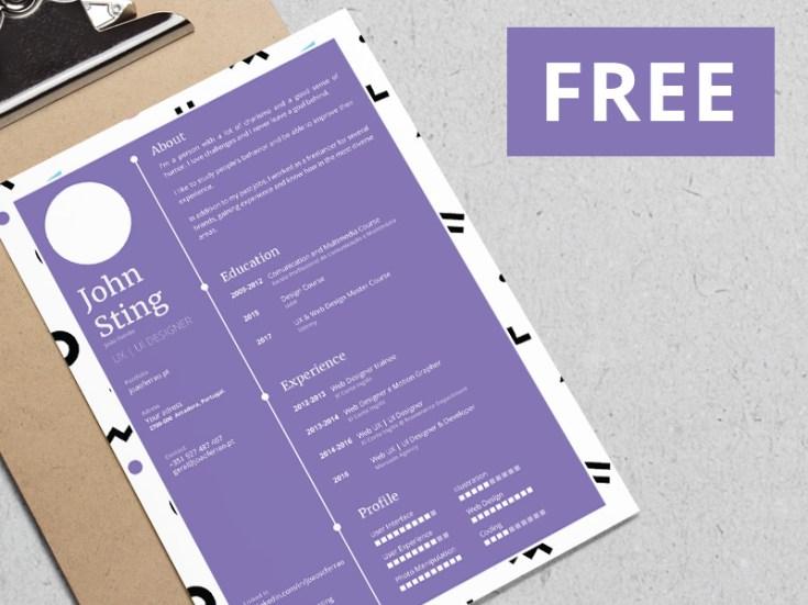Free Simple Minimalist Resume template