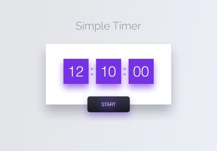 simple timer ui design psd