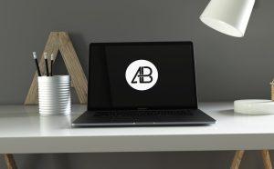 Free Space Gray MacBook Pro Mockup PSD