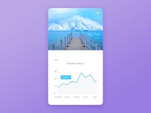 Free Stats Mobile App UI PSD