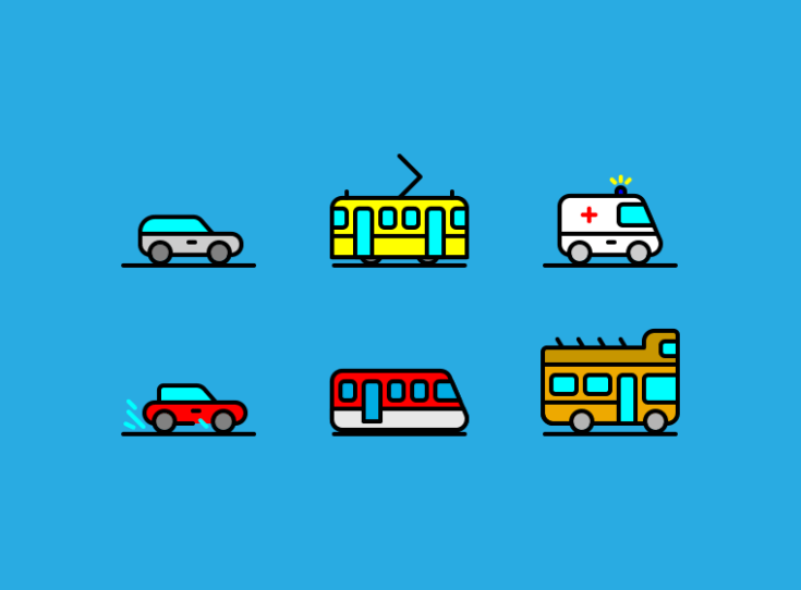Free Traffic Icon Set