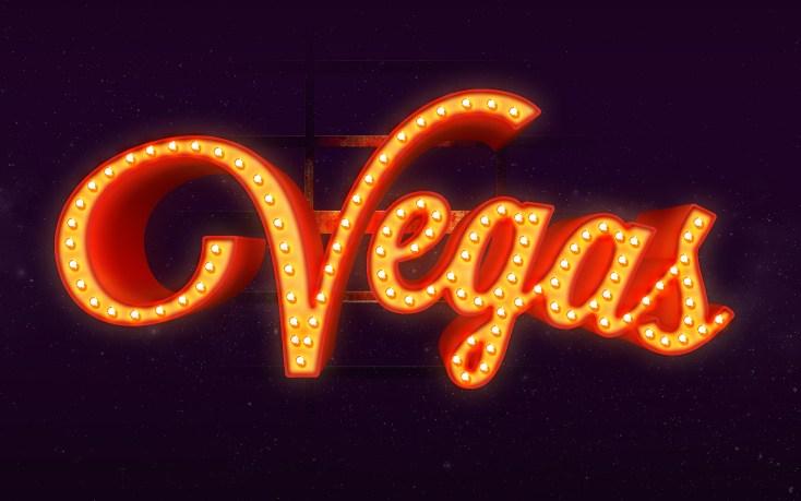 Free Vegas Text Effect PSD