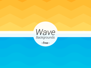 Free Wave Geometric Backgrounds