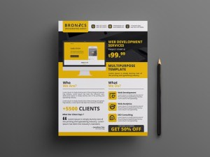 Free Web Development Flyer Template