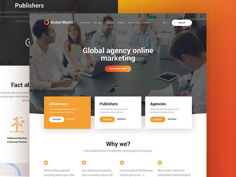 Global Media : Advertising Agency Web Template - Free Download ...