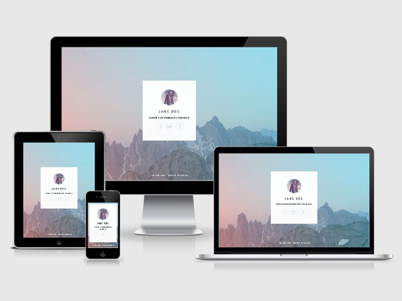 Identity- Vcard HTML5 Responsive Template