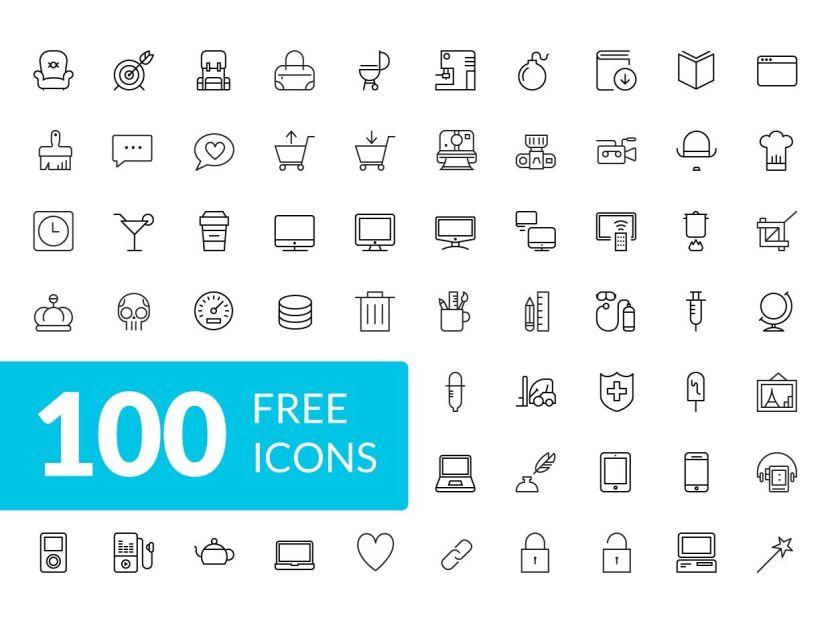 100 Free iOS 8 Icons