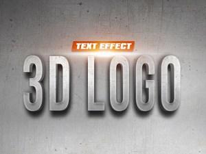Free 3D Logo Text Effect PSD