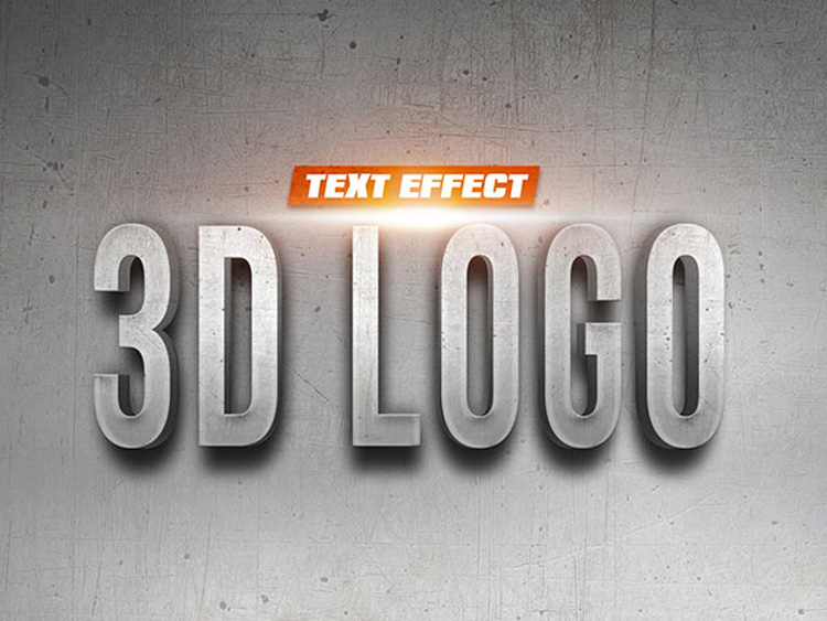 3D Logo Text Effect PSD