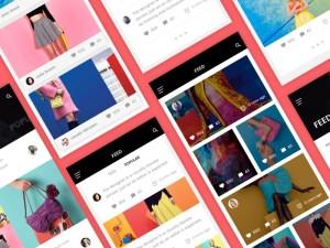 Free Blog App UI Kit Sketch