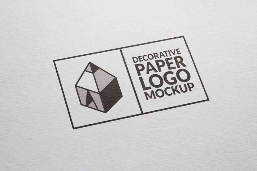 Clean Paper Logo Mockup PSD