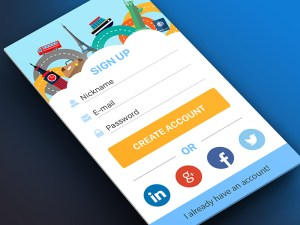 Free Colorful Sign Up Screen UI PSD