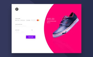 Credit Card Checkout UI PSD