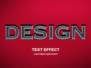 Free 3D Vintage Text Effect PSD