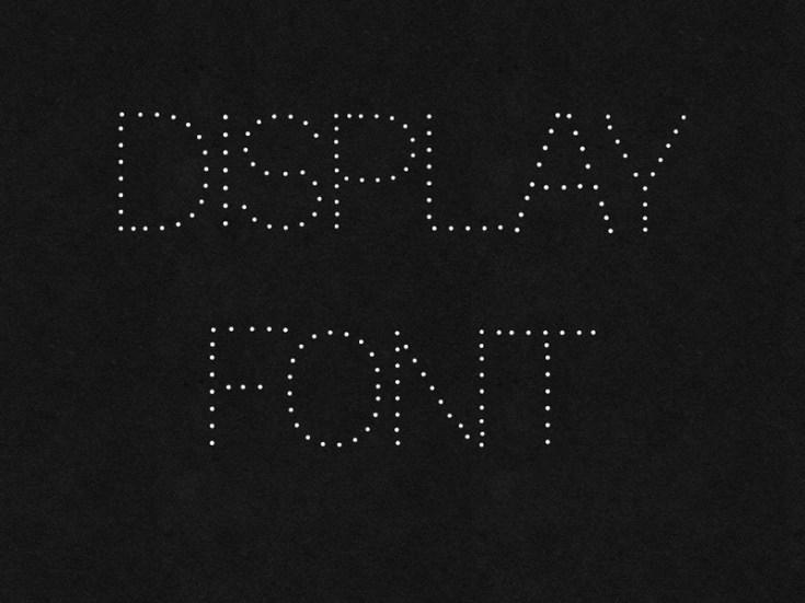 Free Dotted Font