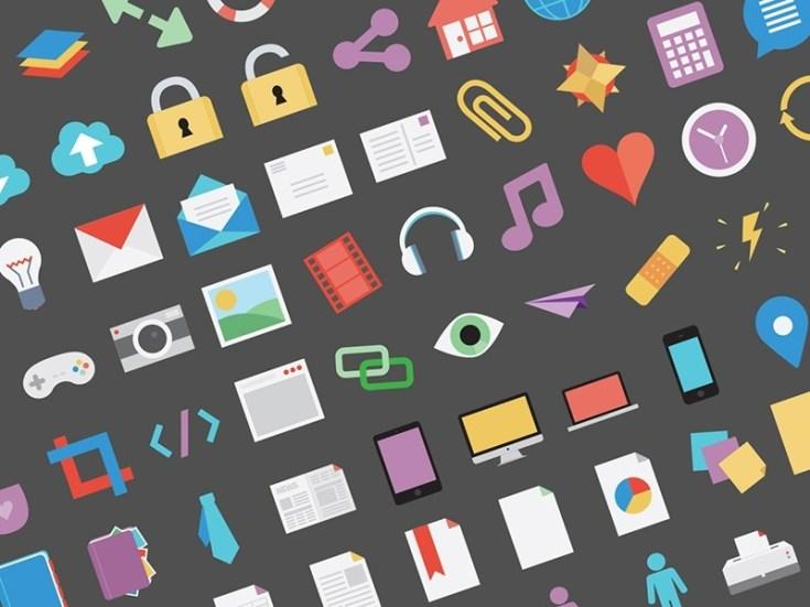 Flat-tastic : 100 Free Flat Icons