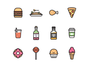 Foodie Icon Set