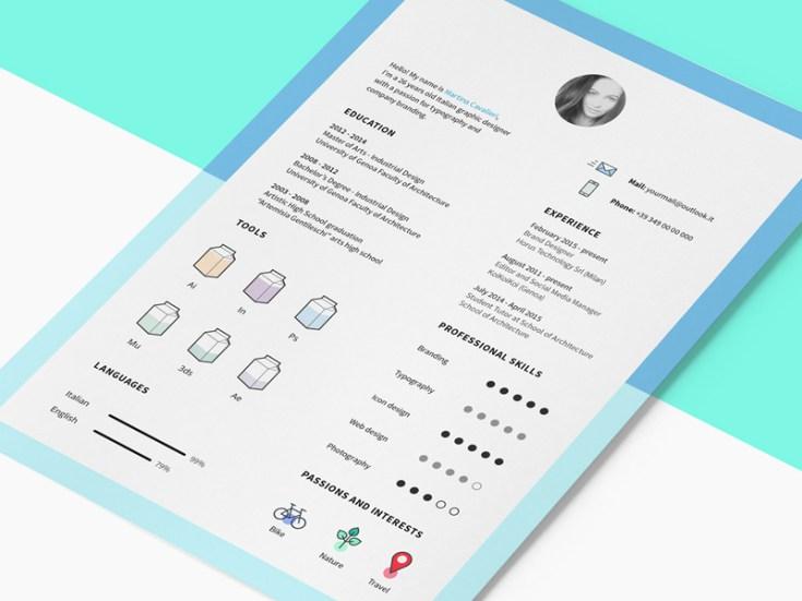 Free Clean CV Template