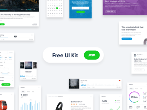 Free Clean UI Kit PSD
