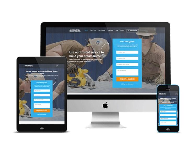 Free Construction Wordpress Theme