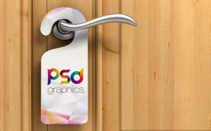 Free Door Hanger Mockup PSD