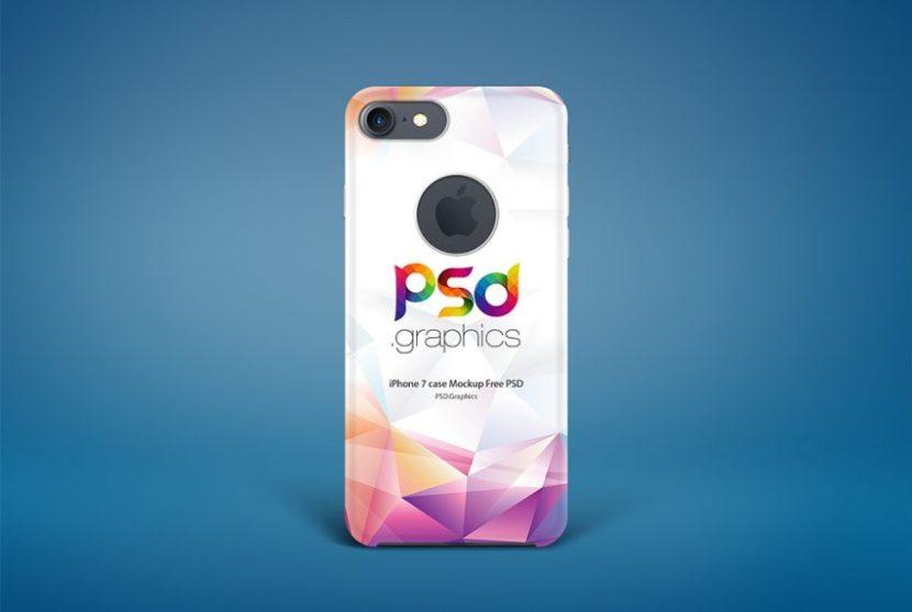 Free iPhone 7 Case Mockup PSD
