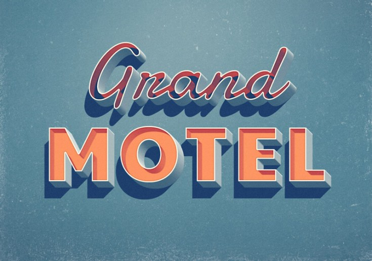 Free Grand Motel Text Effect