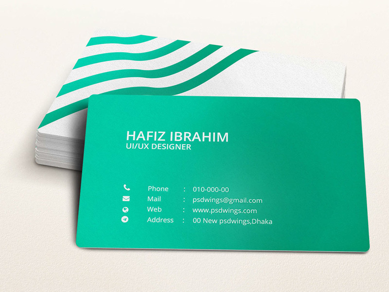 Green Illustrator Business Card Template - Free Download ...
