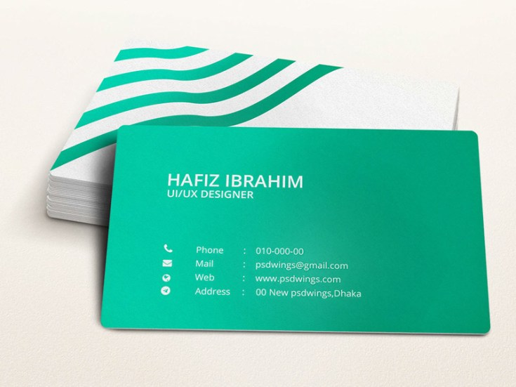 green illustrator business card template free