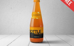 Free Juice Bottle Mockup PSD
