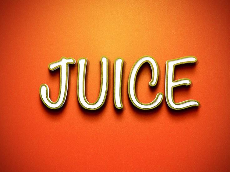 Juice Free Retro Text Effect PSD