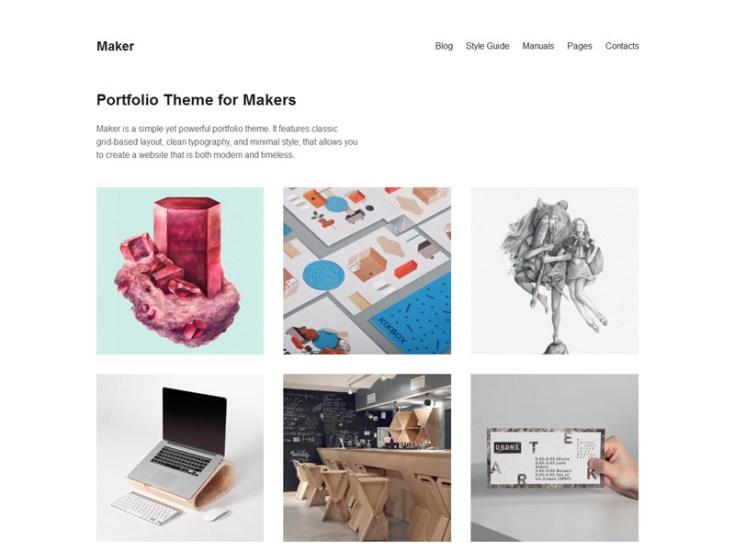 Maker Free Wordpress Theme