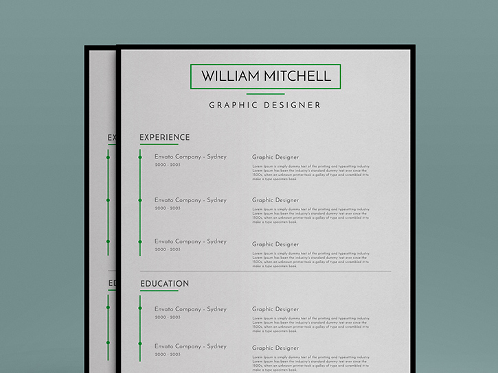 Minimal Resume Template with Cover Letter