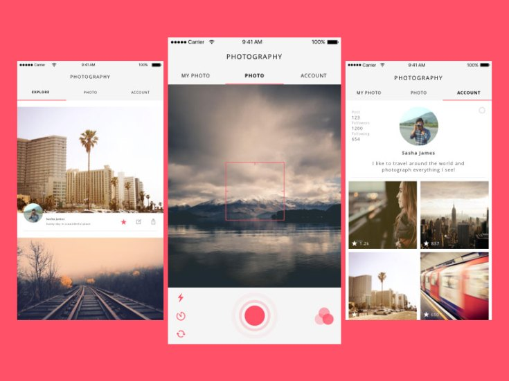Photo App Concept UI Design