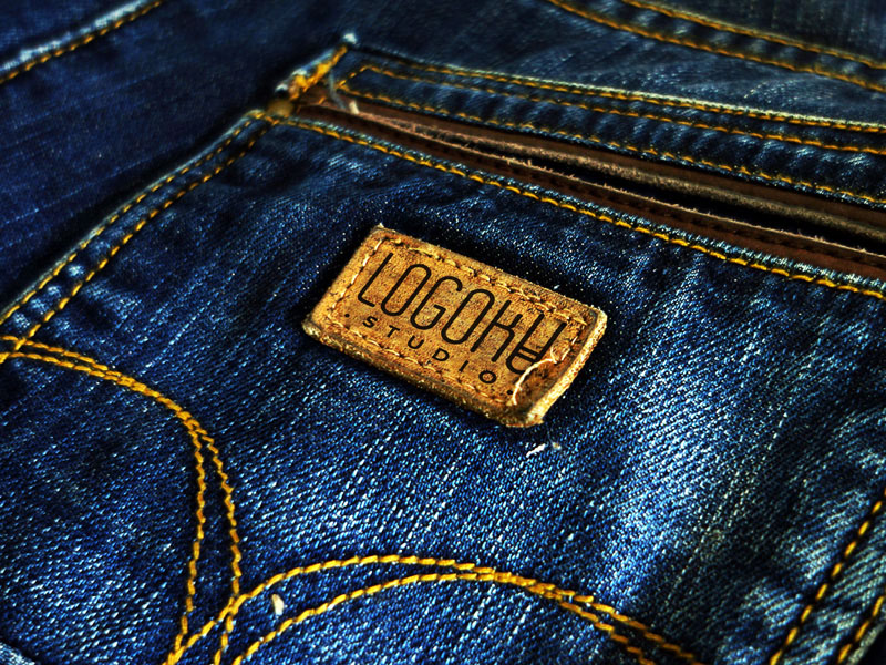 Pocket Jeans Label Mockup PSD